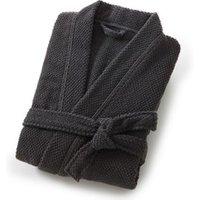 Albornoz cuello kimono hombre 100% algodón con motivo en relieve 350g/m²