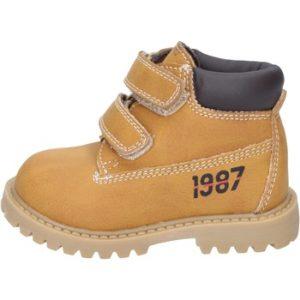 botines amarillo cuero BT323