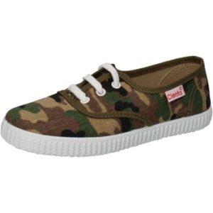 sneakers verde textil marrón profumate AD824