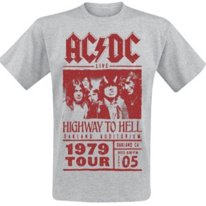 Comprar AC/DC Highway To Hell - Red Photo - 1979 Tour Camiseta Gris/Melé