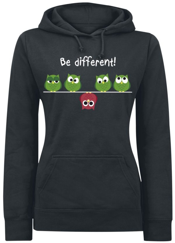 Comprar Be Different! Jersey con Capucha Mujer Negro