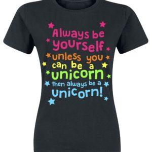 Comprar Unicornio Always Be Yourself Camiseta Mujer Negro