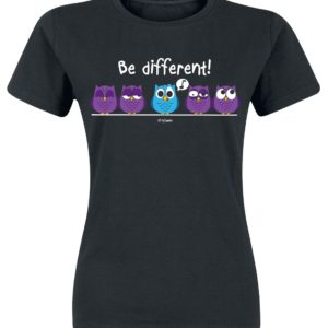 Comprar Be Different! Camiseta Mujer Negro