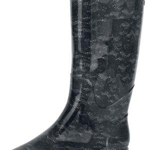 Comprar Alcatraz Lace Rain Boots Botas de agua negro/gris