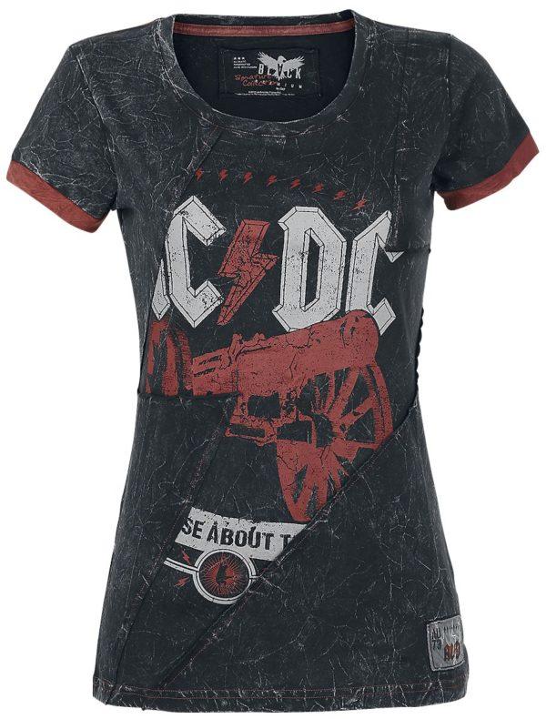 Comprar AC/DC EMP Signature Collection Camiseta Mujer Gris oscuro