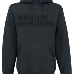Comprar Black Is My Happy Colour Sudadera con capucha Negro