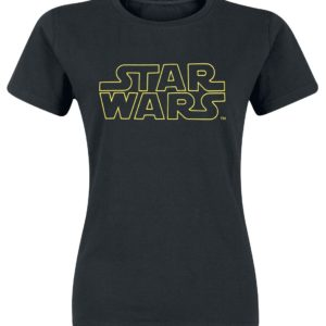 Comprar Star Wars Logo Camiseta Mujer Negro