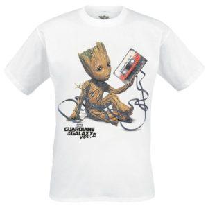 Comprar Guardianes De La Galaxia 2 - Groot & Tape Camiseta Blanco