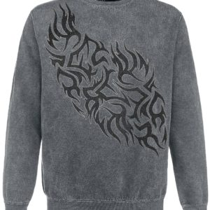 Comprar Outer Vision Flames Tattoo Sudadera Gris