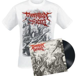 Comprar Damnation Defaced Invader from beyond LP & Camiseta standard