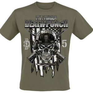 Comprar Five Finger Death Punch Infantry Special Forces Camiseta Aceituna