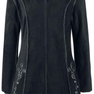 Comprar Innocent Embroidered Fleece Hood Sudadera capucha con cremallera Negro