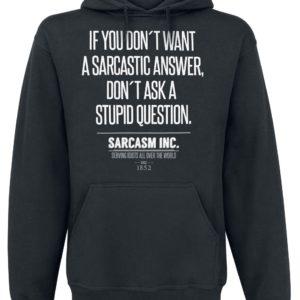 Comprar Sarcasm Inc. Sudadera con capucha Negro