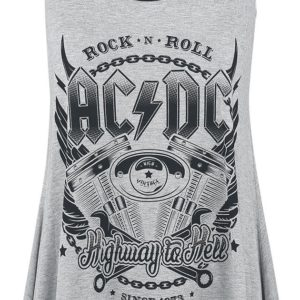 Comprar AC/DC EMP Signature Collection Top Mujer gris claro jaspeado/negro