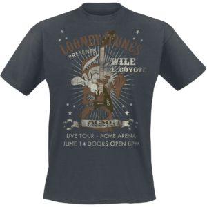 Comprar Looney Tunes Wile E Coyote Guitar Camiseta Gris oscuro