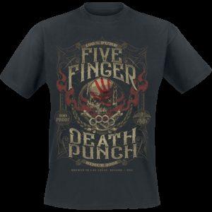 Comprar Five Finger Death Punch 100 Proof Camiseta Negro
