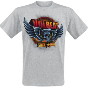 Comprar Volbeat Dimension Skullwing Camiseta Gris/Melé