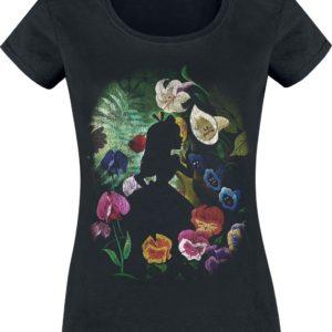 Comprar Alicia en el País de las Maravillas Black Flower Camiseta Mujer Negro