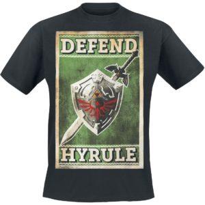 Comprar The Legend Of Zelda Defend Hyrule Camiseta Negro
