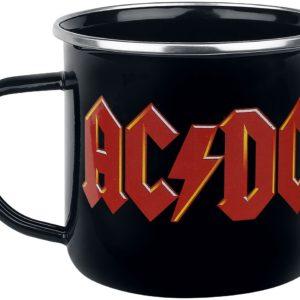 Comprar AC/DC Logo - Emaille Becher Tazas Negro