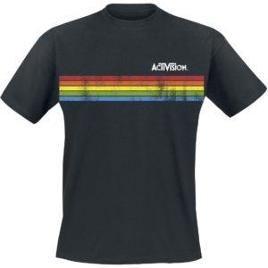 Comprar Activision Distressed Stripe Camiseta Negro