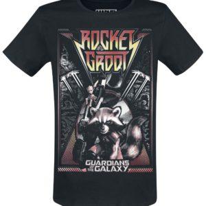 Comprar Guardianes De La Galaxia Rocket And Groot Camiseta Negro