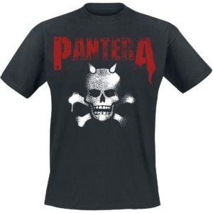 Comprar Pantera Horned Skull Stencil Camiseta Negro