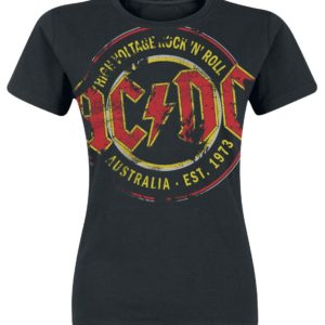 Comprar AC/DC High Voltage - Australia Est. 1973 Vintage Camiseta Mujer Negro
