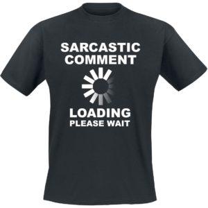 Comprar Sarcastic Comment Camiseta Negro