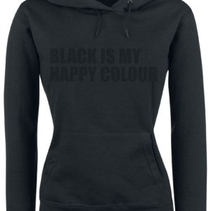 Comprar Black Is My Happy Colour Jersey con Capucha Mujer Negro