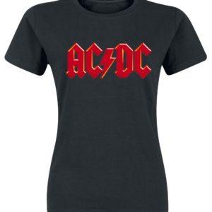 Comprar AC/DC Red Logo Camiseta Mujer Negro