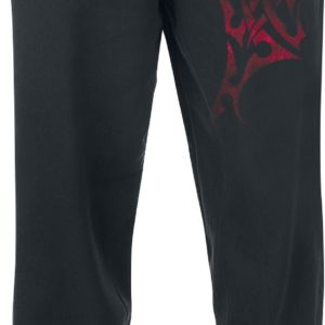 Comprar Red Smoky Tribal Pantalones de gimnasia Negro