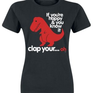 Comprar Goodie Two Sleeves Sad T-Rex Camiseta Mujer Negro