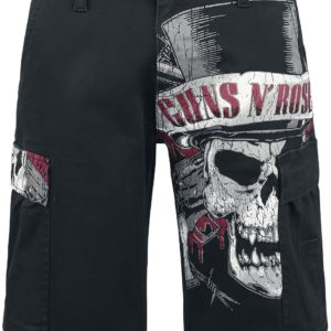 Comprar Guns N' Roses Top Hat Skull Cargo shorts Negro