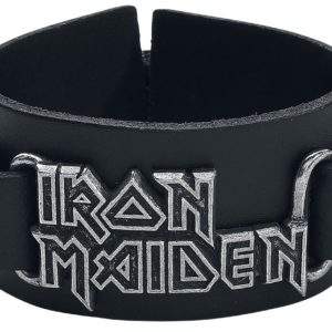Comprar Iron Maiden Logo Pulsera de cuero Negro