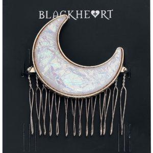 Comprar Blackheart Moon Clip para el pelo blanco/oro