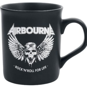 Comprar Airbourne Rock 'N Roll For Life Tazas negro mate