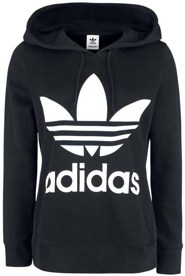 Comprar Adidas Trefoil Hoodie Jersey con Capucha Mujer negro-blanco