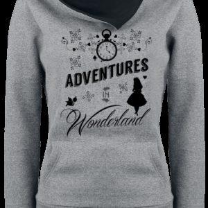 Comprar Alicia en el País de las Maravillas Adventures In Wonderland Jersey con Capucha Mujer gris/negro