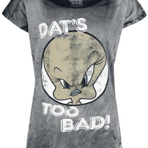 Comprar Looney Tunes Tweety - Dat's Too Bad! Camiseta Mujer Gris