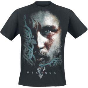 Comprar Vikings Ragnar Face Camiseta Negro