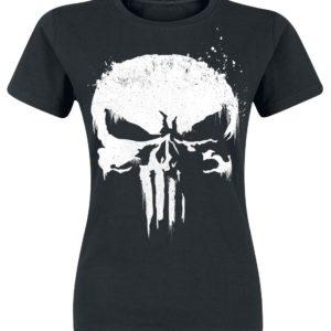Comprar The Punisher Sprayed Skull Logo Camiseta Mujer Negro