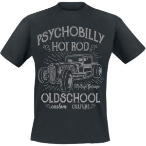 Comprar Psychobilly Hot Rod Camiseta Negro