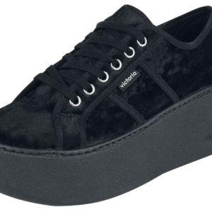 Comprar Victoria Basket Terciopelo Plataforma Zapatos Negro