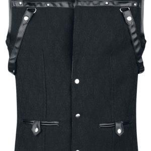 Comprar Vintage Goth Chaleco hombre Gótico con brocado Chaleco Negro