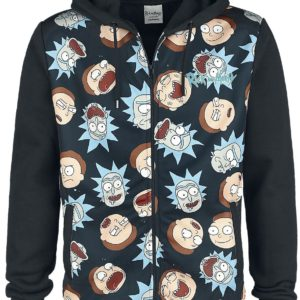 Comprar Rick and Morty Faces Sudadera capucha con cremallera Negro