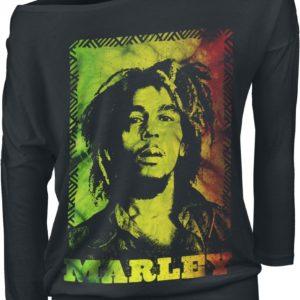 Comprar Bob Marley Rasta Manga larga Mujer Negro