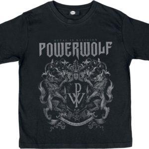 Comprar Powerwolf Crest Camiseta de Niño/a Negro