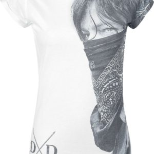 Comprar The Walking Dead Daryl Dixon - Large Face Bandana Camiseta Mujer Blanco