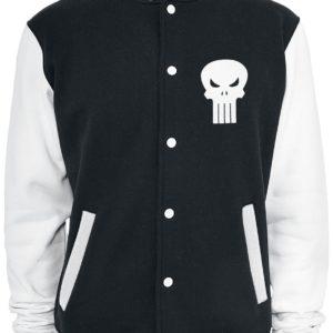Comprar The Punisher Logo Cazadora tipo universitario negro-blanco